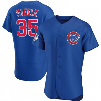 Men's Justin Steele Chicago Royal Authentic Alternate Baseball Jersey (Unsigned No Brands/Logos)