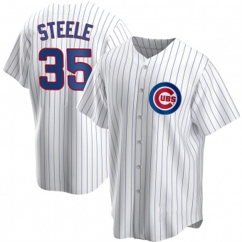 Men's Justin Steele Chicago White Replica Home Baseball Jersey (Unsigned No Brands/Logos)