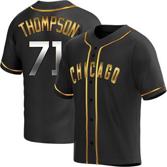 Men's Keegan Thompson Chicago Black Golden Replica Alternate Baseball Jersey (Unsigned No Brands/Logos)