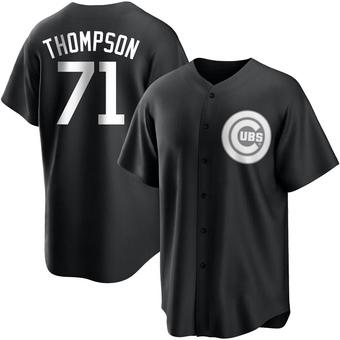 Men's Keegan Thompson Chicago Black/White Replica Baseball Jersey (Unsigned No Brands/Logos)