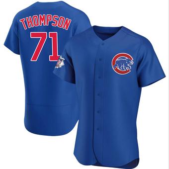 Men's Keegan Thompson Chicago Royal Authentic Alternate Baseball Jersey (Unsigned No Brands/Logos)