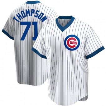 Men's Keegan Thompson Chicago White Replica Home Cooperstown Collection Baseball Jersey (Unsigned No Brands/Logos)