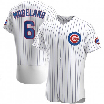 Men's Keith Moreland Chicago White Authentic Home Baseball Jersey (Unsigned No Brands/Logos)