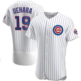 Men's Koji Uehara Chicago White Authentic Home Baseball Jersey (Unsigned No Brands/Logos)