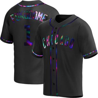 Men's Kosuke Fukudome Chicago Black Holographic Replica Alternate Baseball Jersey (Unsigned No Brands/Logos)