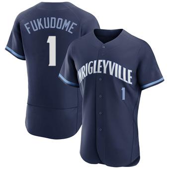 Men's Kosuke Fukudome Chicago Navy Authentic 2021 City Connect Baseball Jersey (Unsigned No Brands/Logos)