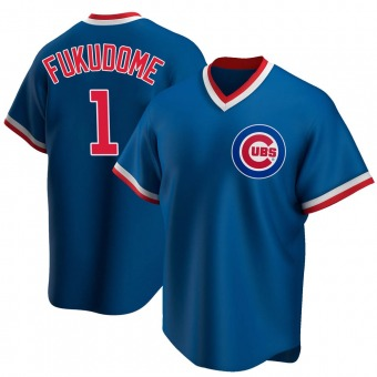 Men's Kosuke Fukudome Chicago Royal Replica Road Cooperstown Collection Baseball Jersey (Unsigned No Brands/Logos)