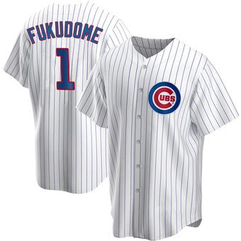 Men's Kosuke Fukudome Chicago White Replica Home Baseball Jersey (Unsigned No Brands/Logos)