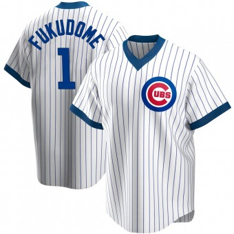 Men's Kosuke Fukudome Chicago White Replica Home Cooperstown Collection Baseball Jersey (Unsigned No Brands/Logos)