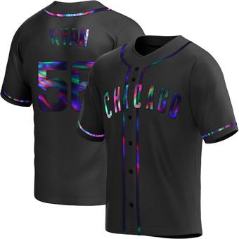 Men's Kyle Ryan Chicago Black Holographic Replica Alternate Baseball Jersey (Unsigned No Brands/Logos)