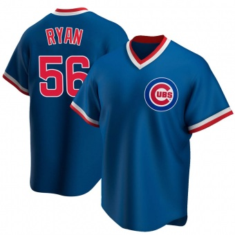 Men's Kyle Ryan Chicago Royal Replica Road Cooperstown Collection Baseball Jersey (Unsigned No Brands/Logos)