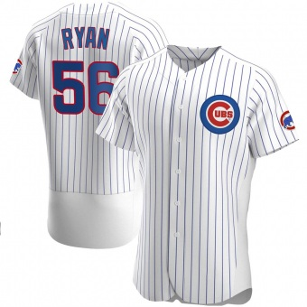 Men's Kyle Ryan Chicago White Authentic Home Baseball Jersey (Unsigned No Brands/Logos)