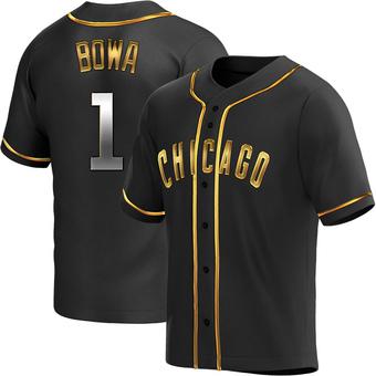 Men's Larry Bowa Chicago Black Golden Replica Alternate Baseball Jersey (Unsigned No Brands/Logos)