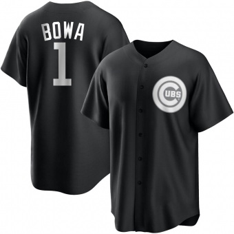 Men's Larry Bowa Chicago Black/White Replica Baseball Jersey (Unsigned No Brands/Logos)