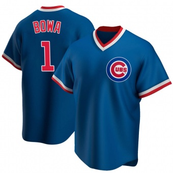 Men's Larry Bowa Chicago Royal Replica Road Cooperstown Collection Baseball Jersey (Unsigned No Brands/Logos)