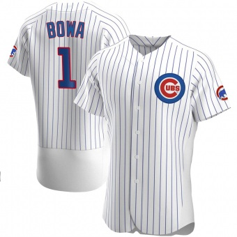 Men's Larry Bowa Chicago White Authentic Home Baseball Jersey (Unsigned No Brands/Logos)