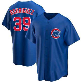 Men's Manuel Rodriguez Chicago Royal Replica Alternate Baseball Jersey (Unsigned No Brands/Logos)