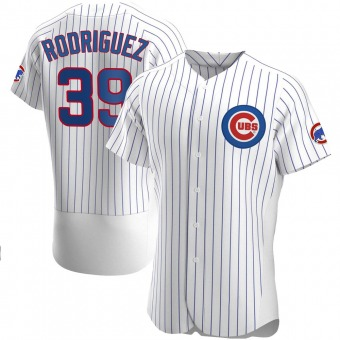 Men's Manuel Rodriguez Chicago White Authentic Home Baseball Jersey (Unsigned No Brands/Logos)