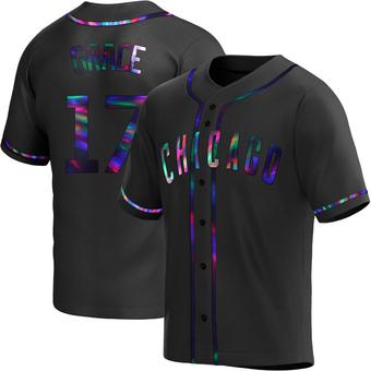 Men's Mark Grace Chicago Black Holographic Replica Alternate Baseball Jersey (Unsigned No Brands/Logos)