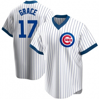 Men's Mark Grace Chicago White Replica Home Cooperstown Collection Baseball Jersey (Unsigned No Brands/Logos)