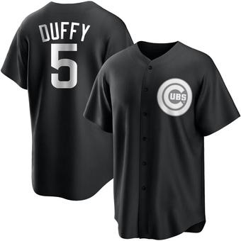 Men's Matt Duffy Chicago Black/White Replica Baseball Jersey (Unsigned No Brands/Logos)