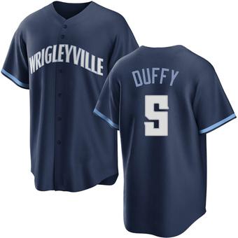 Men's Matt Duffy Chicago Navy Replica 2021 City Connect Baseball Jersey (Unsigned No Brands/Logos)