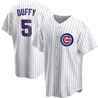 Men's Matt Duffy Chicago White Replica Home Baseball Jersey (Unsigned No Brands/Logos)