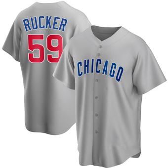 Men's Michael Rucker Chicago Gray Replica Road Baseball Jersey (Unsigned No Brands/Logos)