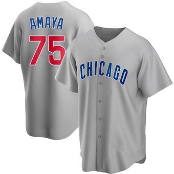 Men's Miguel Amaya Chicago Gray Replica Road Baseball Jersey (Unsigned No Brands/Logos)