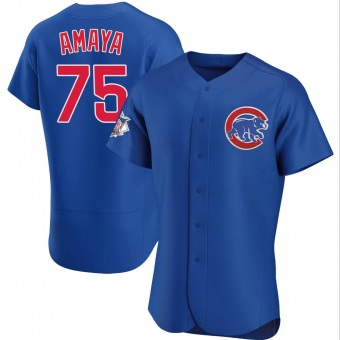 Men's Miguel Amaya Chicago Royal Authentic Alternate Baseball Jersey (Unsigned No Brands/Logos)