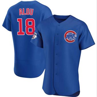 Men's Moises Alou Chicago Royal Authentic Alternate Baseball Jersey (Unsigned No Brands/Logos)