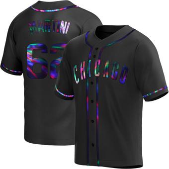 Men's Nick Martini Chicago Black Holographic Replica Alternate Baseball Jersey (Unsigned No Brands/Logos)