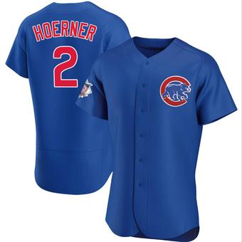 Men's Nico Hoerner Chicago Royal Authentic Alternate Baseball Jersey (Unsigned No Brands/Logos)