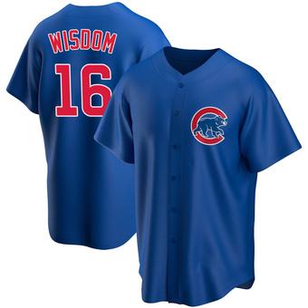 Men's Patrick Wisdom Chicago Royal Replica Alternate Baseball Jersey (Unsigned No Brands/Logos)