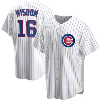 Men's Patrick Wisdom Chicago White Replica Home Baseball Jersey (Unsigned No Brands/Logos)