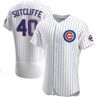 Men's Rick Sutcliffe Chicago White Authentic Home Baseball Jersey (Unsigned No Brands/Logos)