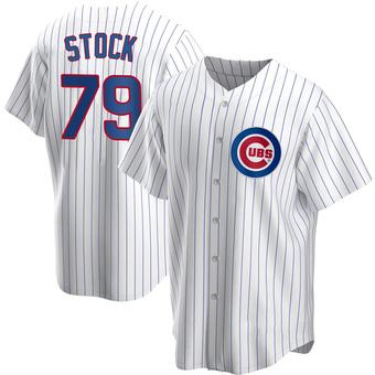 Men's Robert Stock Chicago White Replica Home Baseball Jersey (Unsigned No Brands/Logos)