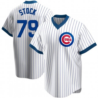 Men's Robert Stock Chicago White Replica Home Cooperstown Collection Baseball Jersey (Unsigned No Brands/Logos)
