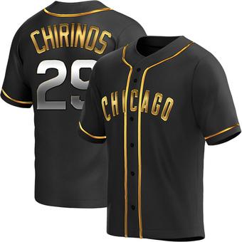 Men's Robinson Chirinos Chicago Black Golden Alternate Baseball Jersey (Unsigned No Brands/Logos)
