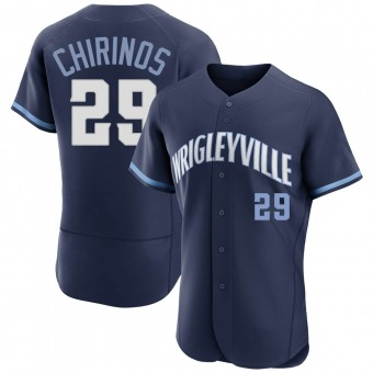 Men's Robinson Chirinos Chicago Navy Authentic 2021 City Connect Baseball Jersey (Unsigned No Brands/Logos)