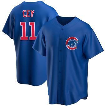 Men's Ron Cey Chicago Royal Replica Alternate Baseball Jersey (Unsigned No Brands/Logos)