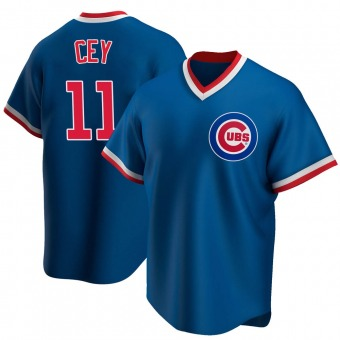 Men's Ron Cey Chicago Royal Replica Road Cooperstown Collection Baseball Jersey (Unsigned No Brands/Logos)
