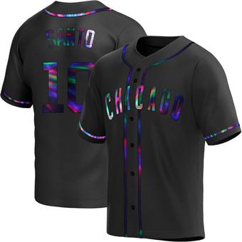 Men's Ron Santo Chicago Black Holographic Replica Alternate Baseball Jersey (Unsigned No Brands/Logos)