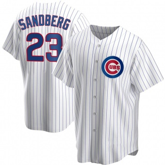 Men's Ryne Sandberg Chicago White Replica Home Baseball Jersey (Unsigned No Brands/Logos)