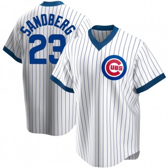 Men's Ryne Sandberg Chicago White Replica Home Cooperstown Collection Baseball Jersey (Unsigned No Brands/Logos)