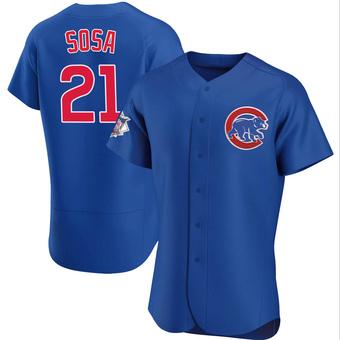 Men's Sammy Sosa Chicago Royal Authentic Alternate Baseball Jersey (Unsigned No Brands/Logos)