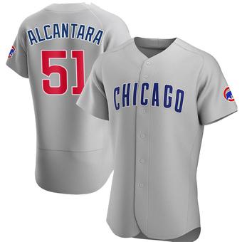 Men's Sergio Alcantara Chicago Gray Authentic Road Baseball Jersey (Unsigned No Brands/Logos)