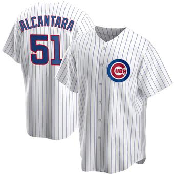 Men's Sergio Alcantara Chicago White Replica Home Baseball Jersey (Unsigned No Brands/Logos)