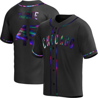 Men's Tommy Nance Chicago Black Holographic Replica Alternate Baseball Jersey (Unsigned No Brands/Logos)