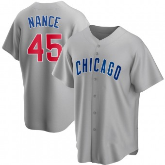 Men's Tommy Nance Chicago Gray Replica Road Baseball Jersey (Unsigned No Brands/Logos)